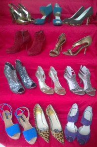 A sample of Diane's shoe collection